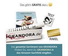Grandora W5444 Wandtattoo Wandsticker Zitat Spruch Glaube an Wunder Liebe und Glück Flur Wohnzimmer Schlafzimmer weiß (BxH) 146 x 58 cm