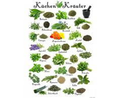 1art1 115324 Kochkunst - Küchen-Kräuter Kunstdruck 80 x 60 cm