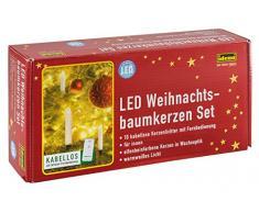 Idena 31102 - 10 Stück LED Christbaumkerzen zum Klemmen, warm weiß, ca. 12 cm, Batterie betrieben, mit Infrarot Fernbedienung