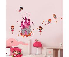 Walplus - Engel Schloss Prinzessin Kinderzimmer Wand Sticker Aufkleber Deko