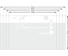 Graz Design 980091_100x57 Fensterdekor Milchglasfolie Sichtschutz Folie Badezimmer Leuchtturm (Größe=100x57cm)