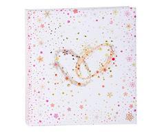 Goldbuch Hochzeitsalbum, Crystal Romance, 30 x 31 cm, 60 weiße Seiten mit Pergamin-Trennblättern, Kunstdruck mit Goldprägung und Relief, Perlmutt, 08345