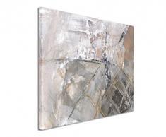 80x60cm Fotoleinwand Leinwanddruck Kunstdruck Wandbild grau schwarz weiß Schlieren
