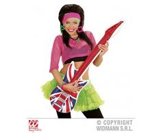 Widmann 23947 Aufblasbare Gitarre U.K, Unisex – Erwachsene, Rot/Blau/Weiß, Taglia unica