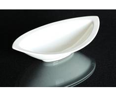 Schale oval Porzellan weiss Schüssel Obstschale Dekoschale ca.30,5x16,5 cm.