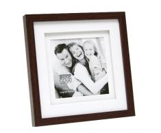 Deknudt Frames S65KQ1 Bilderrahmen 13x13 Holz Braun, doppeltes Pptt Holz Fotokader