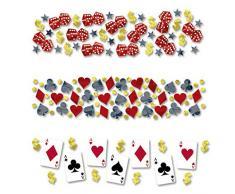 Amakando Partykonfetti Casino Konfetti Place Your Bets 34 g Papierkonfetti Dekokonfetti Mottoparty Event Tischdeko Spieleabend Tischkonfetti Zockerabend Streudeko Zockerabend