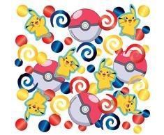 NET TOYS Pokémon Party-Konfetti - 14g - Schöne Party-Deko Pikachu Streu-Artikel Taschenmonster - Genau richtig für Kinderfest & Kindergeburtstag