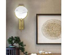 YINGYING Neue Chinesische Acrylgemälde-Wand-Licht Leuchte, LED Einfache Runde Fan-Wand-Lampen-Kunst-Dekoration Beleuchtung Treppen Aisle Schlafzimmer Nachtwandleuchte (Size : 1 Pack)