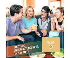 Sag mal.. Party - EIN lustiges Partyspiel mit coolen und witzigen Fragen für Erwachsene – Dieses Party Zubehör ist mehr als nur EIN Scherzartikel - Gehört als Eisbrecher auf Jede Feier und Silvester