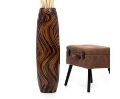 Große Deko-Bodenvase - Holz - 90cm hoch (braun)