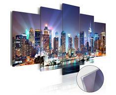 Neuheit! Modernes Acrylglasbild 100x50 cm - 5 Teilig - 2 Formate zur Auswahl - Glasbilder - TOP - Wand Bild - Kunstdruck - Wandbild - Bilder - New York d-B-0056-k-m 100x50 cm