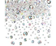Hicarer 4000 Stücke Tabelle Konfetti Hochzeit Kristalle Acryl Diamanten Strass Vase Füllstoffe für Geburtstag Baby Shower Party Tische (Kristall AB)