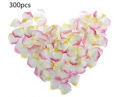 Deko-Streuschmuck 300 Stück Künstlich Seide Rosenblüten Hochzeit Party Blumen Rosenblätter Brautdusche Gang Konfetti Dekor von SamGreatWorld