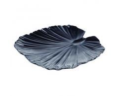 APS 83445 Palmblattschale, 35 x 34cm, H: 4,5cm, Melamin, schwarz -NATURAL COLLECTION- designed by EsserDesign