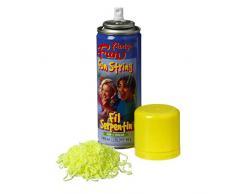 Artif Luftschlangenspray gelb, Bombe Garn Spaghetti-83 ml