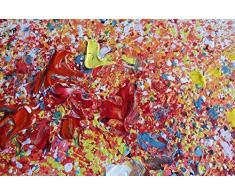 KunstLoft® Acryl Gemälde Auserwählt 90x70cm   original handgemalte Leinwand Bilder XXL   Baum Natur Gelb Bunt   Wandbild Acrylbild Moderne Kunst einteilig mit Rahmen