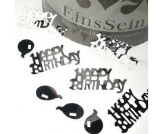 14g Streudeko Geburtstag Baloons EinsSein® silber metallisch Happy Birthday Kindergeburtstag Tischdeko Party