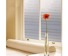 Aingoo UV Schutz gestreift Blickdicht Milchglasfolie Fensterfolie Folie Sichtschtzfolie statische haftende 120 45x200cm