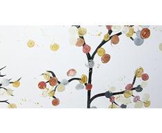 Baumbild XXL modern gestaltet, Wandbild in Acryl: Glamour trees, Unikat Gemälde abstrakt, Grossformat