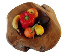 Teakschale 40 cm rund aus Teakholz LFGB zertifiziert = Lebensmittel geeignet