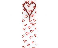Wunderkerze Wondercandle Herz rot Kerze rote Herzen