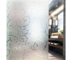"""Tamia-Home Statische Fensterfolie 90% UV-Sonnenschutz Selbsthaftende Sichtschutzfolie Glasdekor S007 """"Rebe"""", 90x200cm"""