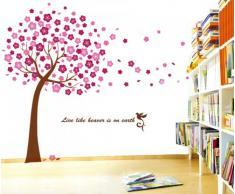 Huge pink tree Walplus(TM) - Wandtattoo Aufkleber Kirschblüten Baum Sticker Dekoration