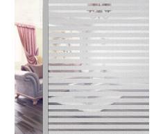 Fensterfolie Streifen Sichtschutzfolie Blickdicht Sichtschutz Selbstklebend Klebefolie 45x200cm Bad