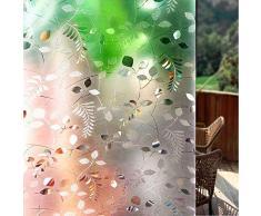 Shackcom 3D Fensterfolie Selbsthaftend Blickdicht Sichtschutz Sichtschutzfolie Statisch Haftend Anti-UV Dekorfolie für Bad Küche Büro Zuhause - Farbeffekt unter Licht 45x200 cm S165