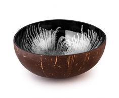 Kaloogo® Cocobowl Splash - Kokosnuss Schale/Dekoschale (weiß)