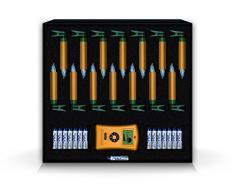 LUMIX Deluxe Mini, kabellose LED-Mini-Christbaumkerzen, Basis-Set mit 14 Kerzen und IR-Fernbedienung, 5x dimmbar, Flackermodus, Gold, Art. 75343