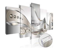 murando - Acrylglasbild Abstrakt 100x50 cm - 5 Teilig - Bilder Wandbild - modern - Decoration - Blumen b-A-0073-k-o