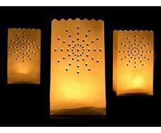 10 Luminaris Leuchttüten Dekoration Lichtertüten Hochzeit - Motiv Stern
