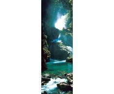 Empireposter - Wasserfälle - New Zealand - Größe (cm), ca. 53x158 - Türposter