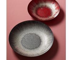 LEONARDO - Vivo - Schale, Obstschale, Dekoschale - Glas - Rot - Maße (ØxH): 50 x 7 cm