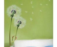 Walplus Wandtattoo aus Vinyl, Selbstklebender, Abnehmbarer Aufkleber für die Wand, Motiv: Pusteblume mit fliegenden Samen, Deko für Wohnzimmer, Schlafzimmer, Büro, Kinderzimmer usw, Mehrfarbig