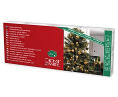 Konstsmide 2316-600 Kupferfarbene Baumkette mit gefrosteten Birnen und Wachsoptik / für Innen (IP20) / 230V Innen / 20 gefrosteten Birnen / grünes Kabel