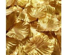 100 stücke Künstliche Rosenblätter, TheBigThumb Gold Silk Rose Blütenblätter Hochzeit Tisch Konfetti Braut Party Dekoration Bridal Shower Favor Mittelstücke