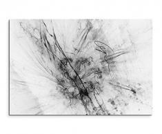 Sinus Art Abstrakt 1169-120x80cm SCHWARZ-Weiss Bilder - Wandbild Kunstdruck in XXL Format - Fertig Aufgespannt - TOP - Leinwand - Wand Bild - Kunst Bild - Wandbild abstrakt XXL