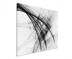 Sinus Art Abstrakt 1483-120x80cm SCHWARZ-Weiss Bilder - Wandbild Kunstdruck in XXL Format - Fertig Aufgespannt - TOP - Leinwand - Wand Bild - Kunst Bild - Wandbild abstrakt XXL