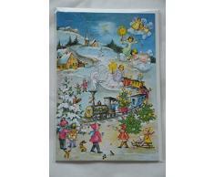 Adventskalender Weihnachtskarte WeihnachtenAdventskalender mit 24 Türchen Karte mit Umschlag (weiß
