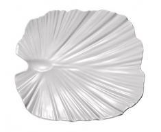 APS 83871 Palmblattschale, 27 x 27cm, H: 4,5cm, Melamin, weiß, -NATURAL COLLECTION- designed by EsserDesign