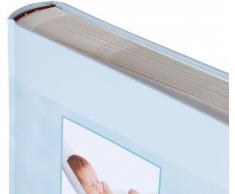 HENZO Einsteckalbum EVA BORN Sweet Dreams Blau - Baby Album - Babyfotoalbum für 200 Fotos 10 x 15 - Fotoalbum