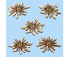 10er Pack Streudeko Edelweiss aus Holz