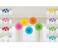 amscan Rainbow Mini-Fächer, Dekoration zum Aufhängen