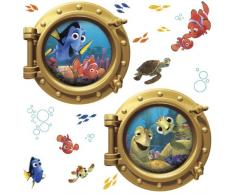 RoomMates RMK2060GM RM - DISNEY Findet Nemo Bullaugen Wandtattoo, PVC, bunt, 48 x 13 x 2.5 cm