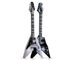 6 Stück Luftgitarre 100 cm, E-Gitarrenstyle, Aufblasgitarre