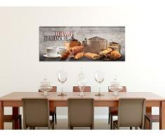 Acrylglasbild Glasbilder Acrylglas Wandbilder für Küche Italienische Lebensart (125x50cm)