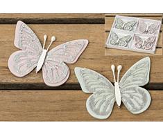Streudeko Schmetterling Holz Streuteile Tischdeko Frühling Tischschmuck 8 tlg